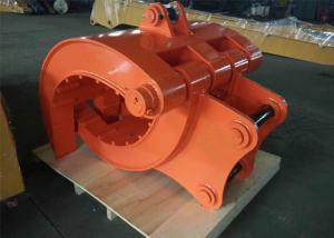China Q345B NM400 Excavator Thumb Grab Hitachi Orange Color 990 mm Bucket Width on sale