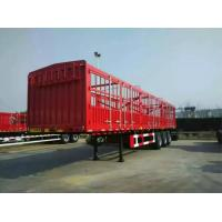 China CIMC Stake Cargo Container Trailer 50 Tons Capacity High Bed Long Van Type on sale