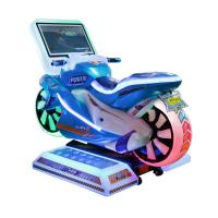 China 1 Player Kids Arcade Machine / Motorcycle Racing Simulator With 19 Screen on sale