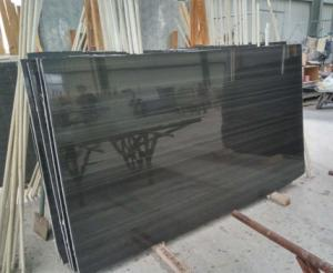 China Popular Black Marble Chinese Wood Black Marble Black Wood Marble Slab,Marble Tile On Selling on sale