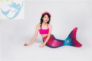 China Children Pink Mermaid Tail Swimming Costume Multifunctional Fade Resistant Fabric on sale