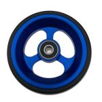 Sport Wheelchairs Front Wheel 100mm 125MM PU On Aluminum Casting Core