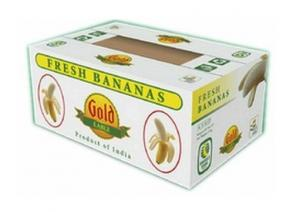 China Corrugated Cardboard Fruit Boxes With Handle , Varnishing / Calendering Printing on sale