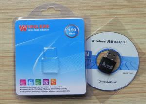 China Mini USB Wifi Adapter RT7601 Chipset 802.11n Wlan Adapter Driver , 150Mbps Wireless Internet Adapter on sale