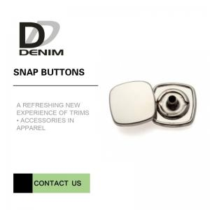 China Decorative Snap Buttons For Clothing , Copper Alloy Metal Snap Buttons on sale