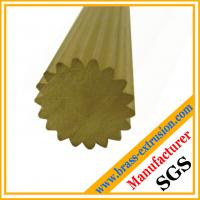 China copper alloy brass profiles rods with teeth brass profiles of Gear sections on sale