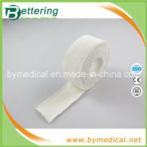 China 2.5cm white colour 100% cotton elastic adhesive bandage thumb tape on sale