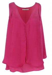 China Pink Color Ladies Fashion Tops Ladies Casual Sleeveless Vest In Summer on sale