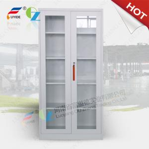 China Storage cupboard FYD-W016 with glass door,high height cabinet,4  adjust shevles on sale
