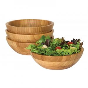 China 4 Piece Bamboo Salad Set  7 X 2.25 More Endurable Than Porcelain Products on sale