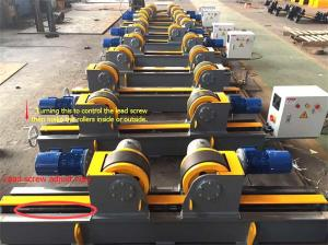 China Lead Screw Adjustment Welding Turning Rolls / Self Aligning Welding Rotator on sale
