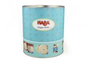 China Color Print Custom Paper Cans Packaging , Gift Package Round box on sale