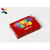 Kids Baby LearniSetng Funny Fruit Vegetables Playing Card Printing Services With Box Packing