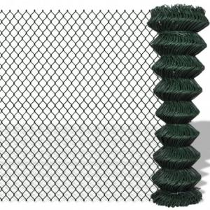China Dark Green Residential Chain Link Fence 5ft For Home Garden / Courtyard / Villa on sale