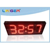 12 / 24 Hours Mode Red Led Digital Clock Small For Office 370*1010*100mm