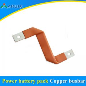 China Flexible copper laminated connectors customized 1-1.5mm thickness copper foil weld 4-6Amm2 on sale