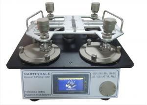 China 4 Test Station SATRA TM31 Martindale Abrasion Tester with 44mm Abrasion Heads on sale