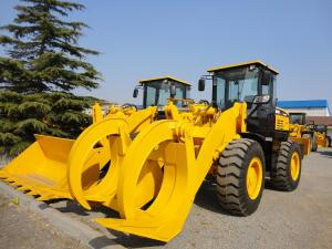 China ISO 9000 Certified Heavy Equipment Dump Truck 5 Ton Wheel Loader With Wood Grab on sale
