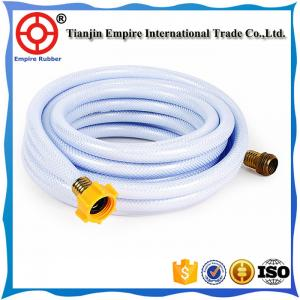 China 4 inch W.P 4 bar 6bar PVC irrigation lay-flat hose polyester fiber pvc rubber red orange or customized on sale