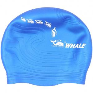 China High Elasticity Printed Swim Caps Bathing Hat with High Grade Silicone Material on sale