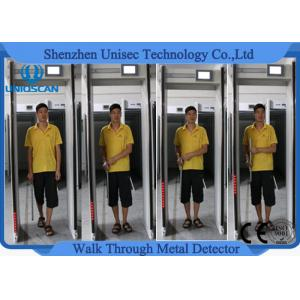 China Body Scanner Walk Through Gate Metal Detector Door Frame For Bank Projects , 300 Sensitivity Level on sale