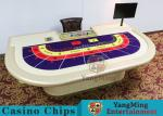 China Macao VIP Dedicated Casino Poker Table With Standard Simulation Pu Leather Handrails wholesale
