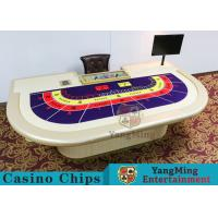 Macao VIP Dedicated Casino Poker Table With Standard Simulation Pu Leather Handrails