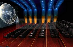 China Arc / Globular screen 3d stereo cinema system with Dolby 3D / IMAX Projectors on sale