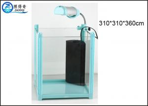 China Colorful Aquarium Fish Tank , Rectangle Small Aquarium Glass Tank on sale