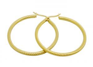 China 50mm Big Circle Male Hoop Earrings , Stainless Steel Gold Earrings on sale