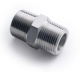 Quality Stainless Steel SS316 Forged Steel Fittings High Pressure Hex Nipple for sale