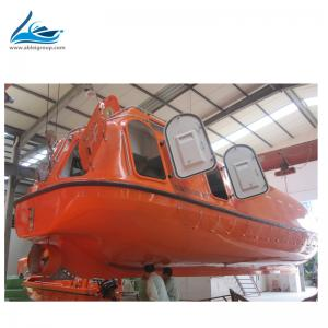 China MED  Certificate FRP Solas partialy eclose life boats and lifeboat davit for sale on sale