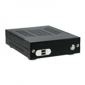 China Aluminum Fanless CarPC Enclosure with 2 USB Ports ,Mini ITX Case Car PC Carputer In Vehicle Computer Case on sale