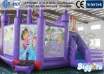 China Purple Comemecial Inflatable Bouncers Dora Bouncy Castle with Slide Combo wholesale