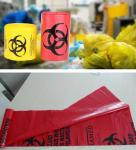 Biodegradable Plastic Hospital biohazard waste bags, Soiled Linen Bags, autoclavable ldpe medical biohazard waste plasti