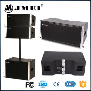 China Black Wood Aluminum Line Array Speakers 2 X 8 Inch 400W For Live Show on sale