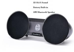 China Outdoor / Indoor Portable Stereo Bluetooth Speakers With FM Radio SD Card Slot on sale