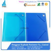 Plastic file folder with elastic band