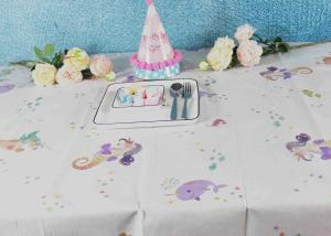 China Printed Biodegradable Paper Tablecloth For Children Birthday Decoration on sale