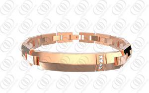 China Bracelete magnético de aço inoxidável do ouro completo de Rosa para a saúde on sale