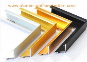 China Brushed Aluminium Picture Frame Mouldings , Aluminium Picture Frame Extrusions on sale