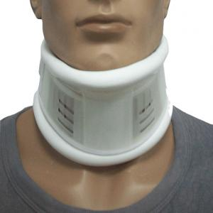 China White Semi Rigid Medical Neck Collar Adjustable Cervical Collar Artificial Leather on sale