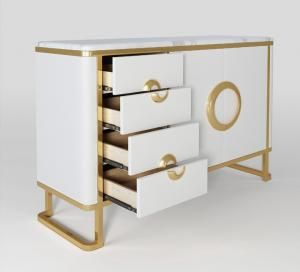 China Luxury Hotel Bedside Tables with Drawer , Commercial Modern TV Cabinet on sale