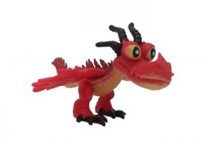 China Special Red Disney Plastic Figures , Eco - Friendly PVC Dragon Movie Toys For Kids on sale