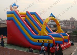 China Funny Cartoon Inflatable Dry Slide / Cheap Inflatable Slide on sale