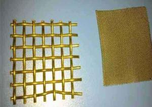 China Copper Wire Decorative Brass Mesh 30m / Roll Plain / Twill Weave Or Dutch Weave on sale