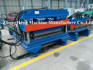 China Step double layer Glazed Tile Roll Forming Machine with HMI PLC Control on sale