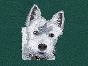China Dog tape embroidery digitizing services WAF9901a with color Black,White and so on on sale