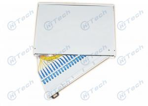 China 19 Inch Rotary 24 Port Fiber Optic Terminal Box Cold Rolling Steel Material wholesale