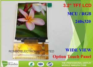 China Customizable LCD Screen 3.2 Inch 240x320 TFT LCD Display Option Touch Panel supplier